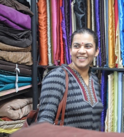 Shopping for materials for our puppets with Anurupa, the founder of Katkatha