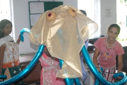 The Jan Madhyam kids try out our octopus