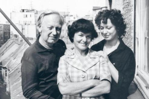 Laco [Ján], Ági and Julia Sherwood, Bratislava 1978, shortly before emigrating to Germany